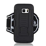 Недорогие Чехлы и кейсы для Galaxy S7-Кейс для Назначение SSamsung Galaxy S7 Кошелек С ремешком на руку Сплошной цвет Твердый текстильный для S7
