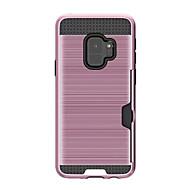 Недорогие Чехлы и кейсы для Galaxy А-Кейс для Назначение SSamsung Galaxy A8 2018 A8 Plus 2018 Бумажник для карт Кейс на заднюю панель Сплошной цвет Твердый Силикон для A8+