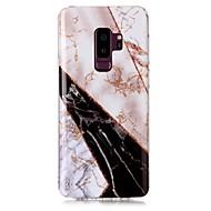 Недорогие Чехлы и кейсы для Galaxy S9 Plus-Кейс для Назначение SSamsung Galaxy S9 S9 Plus IMD С узором Кейс на заднюю панель Мрамор Сияние и блеск Мягкий ТПУ для S9 Plus S9 S8 Plus