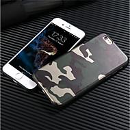 Недорогие Кейсы для iPhone 8 Plus-Кейс для Назначение Apple iPhone 8 iPhone 8 Plus Матовое Кейс на заднюю панель Камуфляж Мягкий ТПУ для iPhone X iPhone 8 Pluss iPhone 8