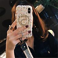 Недорогие Кейсы для iPhone 8 Plus-Кейс для Назначение Apple iPhone X iPhone 7 Plus С узором Кейс на заднюю панель Полосы / волосы Мягкий текстильный для iPhone X iPhone 8