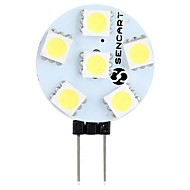 abordables Luces LED de Doble Pin-SENCART 1pc 1.5W 60-80lm G4 Luces LED de Doble Pin T 6 Cuentas LED SMD 5050 Decorativa Blanco Cálido / Blanco 12V