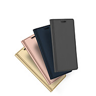 Недорогие Чехлы и кейсы для Galaxy Note 8-Кейс для Назначение SSamsung Galaxy Note 8 Бумажник для карт со стендом Флип Чехол Сплошной цвет Твердый Кожа PU для Note 8