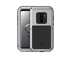 Недорогие Чехлы и кейсы для Galaxy S-Кейс для Назначение SSamsung Galaxy S9 Вода / Грязь / Надежная защита от повреждений Чехол Сплошной цвет Твердый Металл для S9