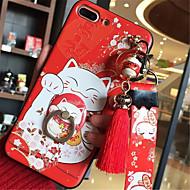 Кейс для Назначение Apple iPhone X iPhone 7 Plus С узором Кейс на заднюю панель Мультипликация Мягкий Силикон для iPhone X iPhone 8 Pluss