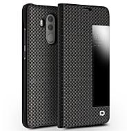 お買い得  携帯電話ケース-ケース 用途 Huawei Mate 10 耐衝撃 ウィンドウ付き フリップ フルボディーケース 純色 ハード 本革 のために Mate 10