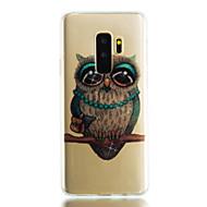 Недорогие Чехлы и кейсы для Galaxy S7-Кейс для Назначение SSamsung Galaxy S9 S9 Plus IMD Прозрачный С узором Сияние и блеск Кейс на заднюю панель Сияние и блеск Сова Мягкий ТПУ