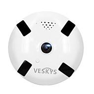 お買い得  -veskys®960p 1.3mp 360度魚眼レンズ赤外線暗視を備えたワイヤレスwi-fiフルビューipカメラ