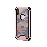 Недорогие Кейсы для iPhone 8 Plus-Кейс для Назначение Apple iPhone X iPhone 8 Защита от удара Кейс на заднюю панель Камуфляж Мягкий Силикон для iPhone X iPhone 8 Pluss