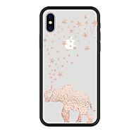 Недорогие Кейсы для iPhone 8 Plus-Кейс для Назначение Apple iPhone X iPhone 8 Plus С узором Кейс на заднюю панель Слон Мультипликация Животное Твердый Акрил для iPhone X