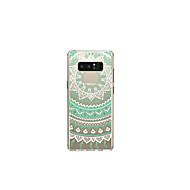Недорогие Чехлы и кейсы для Galaxy Note 8-Кейс для Назначение SSamsung Galaxy Note 8 Полупрозрачный / С узором Кейс на заднюю панель Мандала Мягкий ТПУ для Note 8