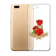 preiswerte Handyhüllen-Hülle Für OPPO R11 Plus Transparent Muster Rückseite Blume Weich TPU für Oppo R11 Plus