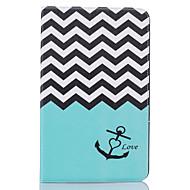 tanie Etui / Pokrowce do Samsunga Tab-Kılıf Na Samsung Galaxy Tab A 10.1 (2016) Etui na karty Portfel Z podpórką Wzór Automatyczne uśpienie / wybudzenie Pełne etui Linie / fale
