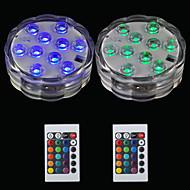 お買い得  -BRELONG® 2pcs 2W 水中ライト リモコン 防水 装飾用 スイミングプール RGB 5.5V