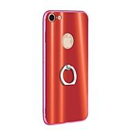 Недорогие Кейсы для iPhone 8-Кейс для Назначение Apple iPhone 8 iPhone 8 Plus Кольца-держатели Ультратонкий Кейс на заднюю панель Однотонный Твердый ТПУ для iPhone 8