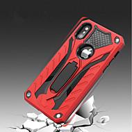 Недорогие Кейсы для iPhone 8-Кейс для Назначение Apple iPhone X iPhone 8 Защита от удара со стендом Кейс на заднюю панель броня Твердый Силикон для iPhone X iPhone 8