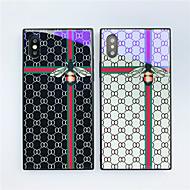 Недорогие Кейсы для iPhone 8 Plus-Кейс для Назначение Apple iPhone X / iPhone 8 С узором Кейс на заднюю панель Плитка / Геометрический рисунок / Животное Твердый Закаленное стекло для iPhone X / iPhone 8 Pluss / iPhone 8