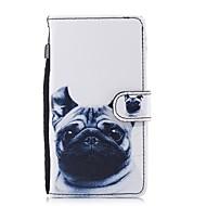 お買い得  携帯電話ケース-ケース 用途 Huawei P10 Lite P8 Lite(2017) カードホルダー ウォレット スタンド付き フリップ パターン フルボディーケース 犬 ハード PUレザー のために P10 Lite P8 Lite (2017)