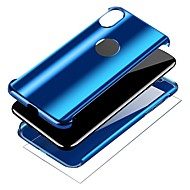 Недорогие Кейсы для iPhone 8 Plus-Кейс для Назначение Apple iPhone X iPhone 8 Покрытие Кольца-держатели Чехол Однотонный Твердый ПК для iPhone X iPhone 8 Pluss iPhone 8