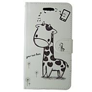 Недорогие Чехлы и кейсы для Galaxy A3(2017)-Кейс для Назначение SSamsung Galaxy A3(2017) Бумажник для карт Кошелек со стендом Флип Чехол Мультипликация Животное Твердый Кожа PU для