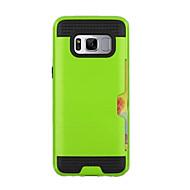Недорогие Чехлы и кейсы для Galaxy S8-Кейс для Назначение SSamsung Galaxy S8 Plus / S8 Бумажник для карт Кейс на заднюю панель броня Твердый ТПУ для S8 Plus / S8