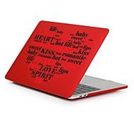 """お買い得  MacBook 用ケース/バッグ/スリーブ-MacBook ケース ロマンチック / ワード/文章 / ハート プラスチック のために 新MacBook Pro 15"""" / 新MacBook Pro 13"""" / MacBook Pro 15インチ"""
