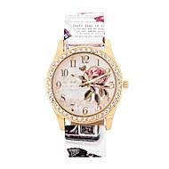 ieftine Bijuterii&Ceasuri-Pentru femei Quartz Simulat Diamant Ceas Ceas La Modă Ceas Casual Chineză Mare Dial imitație de diamant PU Bandă Floare Modă Alb Albastru
