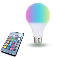 お買い得  LED ボール型電球-1個 10W 800lm E26 / E27 LEDボール型電球 6 LEDビーズ SMD 5050 調光可能 装飾用 リモコン操作 RGB ホワイト 85-265V