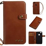 Hülle Für Huawei P10 / P9 Lite Geldbeutel / Kreditkartenfächer / Flipbare Hülle Ganzkörper-Gehäuse Solide Weich PU-Leder für P10 Plus / P10 Lite / P10