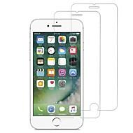 Недорогие Защитные плёнки для экрана iPhone-Защитная плёнка для экрана для Apple iPhone 7 Закаленное стекло 2 штs Защитная пленка для экрана HD / Уровень защиты 9H / 2.5D закругленные углы