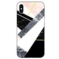Недорогие Кейсы для iPhone 8-Кейс для Назначение Apple iPhone X iPhone 8 Прозрачный С узором Кейс на заднюю панель Мрамор Мягкий ТПУ для iPhone X iPhone 8 Pluss