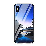 cheap -Case For Apple iPhone X iPhone 8 Pattern Back Cover Scenery Hard Tempered Glass for iPhone X iPhone 8 Plus iPhone 8 iPhone 7 iPhone 6s