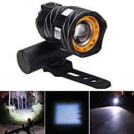 billiga Ficklampor, lyktor och belysning-Framlykta till cykel / Framljus till cykel LED Cykellyktor LED Cykelsport Vattentät, Bärbar Uppladdningsbart Batteri 500 lm Vit Cykling / IPX-4