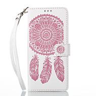 Недорогие Чехлы и кейсы для Galaxy Note-Кейс для Назначение SSamsung Galaxy Note 8 Бумажник для карт со стендом Флип Рельефный Чехол Ловец снов Твердый Кожа PU для Note 8