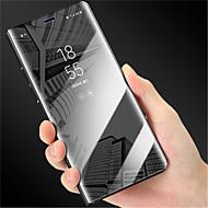 Недорогие Чехлы и кейсы для Galaxy S6 Edge Plus-Кейс для Назначение SSamsung Galaxy S9 S9 Plus со стендом Зеркальная поверхность Флип Авто Режим сна / Пробуждение Чехол Однотонный