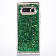 Недорогие Чехлы и кейсы для Galaxy Note-Кейс для Назначение SSamsung Galaxy Note 8 Движущаяся жидкость Сияние и блеск Кейс на заднюю панель Сияние и блеск Мягкий ТПУ для Note 8