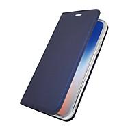 Недорогие Кейсы для iPhone 8 Plus-Кейс для Назначение Apple iPhone X iPhone 8 Plus Бумажник для карт со стендом Флип Магнитный Чехол Однотонный Твердый Кожа PU для iPhone