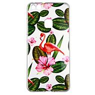 お買い得  携帯電話ケース-ケース 用途 Huawei P10 Lite クリア パターン バックカバー 植物 フラミンゴ ソフト TPU のために P10 Lite