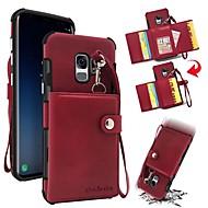 Недорогие Чехлы и кейсы для Galaxy S9 Plus-Кейс для Назначение SSamsung Galaxy S9 S9 Plus Бумажник для карт Кошелек Защита от удара Кейс на заднюю панель Однотонный Твердый