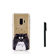 Недорогие Чехлы и кейсы для Galaxy S7 Edge-Кейс для Назначение SSamsung Galaxy S9 S9 Plus Полупрозрачный Кейс на заднюю панель Кот Животное Мягкий ТПУ для S9 Plus S9 S8 Plus S8 S7
