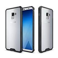 Недорогие Чехлы и кейсы для Galaxy A5(2017)-Кейс для Назначение SSamsung Galaxy A8 2018 A8 Plus 2018 Защита от удара Полупрозрачный Кейс на заднюю панель Однотонный Твердый Акрил для