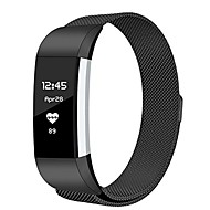 Недорогие Аксессуары для смарт-часов-Ремешок для часов для Fitbit Charge 2 Fitbit Миланский ремешок Металл Повязка на запястье