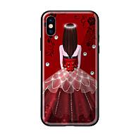 Недорогие Кейсы для iPhone 8-Кейс для Назначение Apple iPhone X iPhone 8 С узором Кейс на заднюю панель Соблазнительная девушка Твердый Закаленное стекло для iPhone X