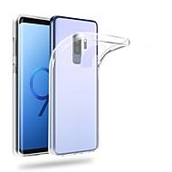 Недорогие Чехлы и кейсы для Galaxy S9 Plus-Кейс для Назначение SSamsung Galaxy S9 S9 Plus Ультратонкий Прозрачный Кейс на заднюю панель Однотонный Мягкий ТПУ для S9 Plus S9 S8 Plus