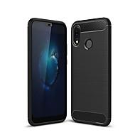 お買い得  携帯電話ケース-ケース 用途 Huawei P20 lite つや消し バックカバー ソリッド ソフト TPU のために Huawei P20 lite