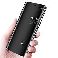 preiswerte Handyhüllen-Hülle Für Huawei P20 lite P20 mit Halterung Spiegel Flipbare Hülle Ganzkörper-Gehäuse Solide Hart PU-Leder für Huawei P20 lite Huawei P20