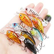 お買い得  釣り用アクセサリー-9 pcs ルアー ハードベイト / ミノウ 硬質プラスチック 海釣り / ベイトキャスティング / スピニング / ジギング / 川釣り / バス釣り / ルアー釣り / 一般的な釣り