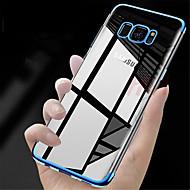 Недорогие Чехлы и кейсы для Galaxy S9 Plus-Кейс для Назначение SSamsung Galaxy S9 S9 Plus Покрытие Полупрозрачный Кейс на заднюю панель Однотонный Мягкий ТПУ для S9 Plus S9 S8 Plus