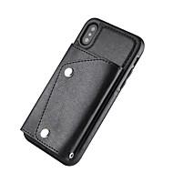 Недорогие Кейсы для iPhone 8-Кейс для Назначение Apple iPhone X iPhone 8 Plus Бумажник для карт Кошелек Кейс на заднюю панель Однотонный Твердый Настоящая кожа для