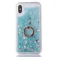 Недорогие Кейсы для iPhone 8-Кейс для Назначение Apple iPhone X iPhone 8 Движущаяся жидкость Кольца-держатели Кейс на заднюю панель Сияние и блеск Твердый ПК для